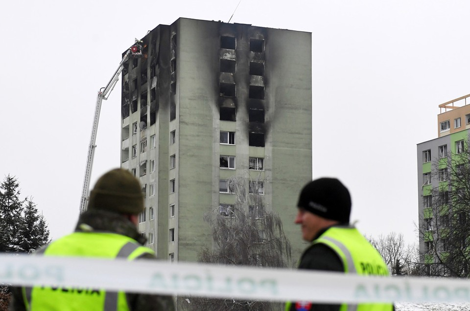 В словацком городе Прешове в жилом многоэтажном доме произошел взрыв газа.
