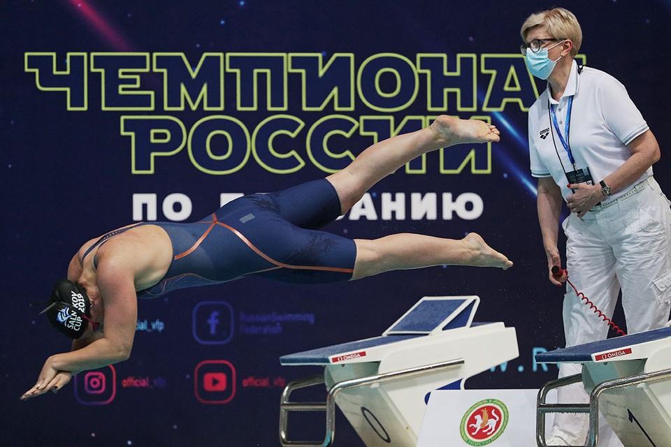 В Казани в местном Дворце водных видов спорта стартовал чемпионат России по плаванию. Фото: Егор АЛЕЕВ/ТАСС