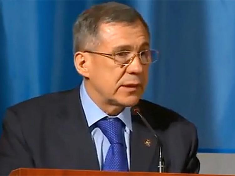 Рустам Минниханов мог стать жертвой теракта. Фото: телеканал ATR