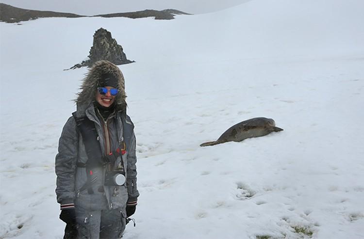Недавно Юлия побывала на Южном полюсе, в Антарктиде.