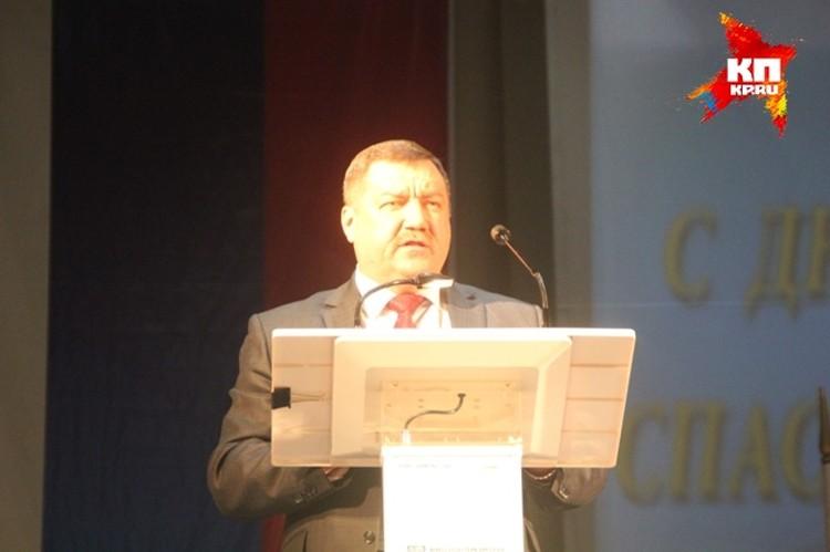 Федор Кургкузкин поздравил всех присутствующих с праздником