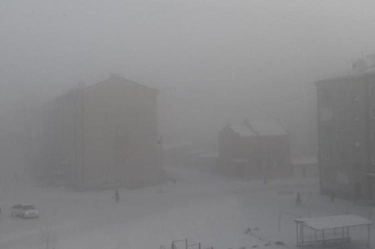 Нулевая видимость в Чернышевске. Фото: Соцсети
