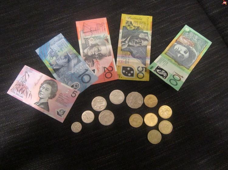 Австралийская валюта. Фото: автора.