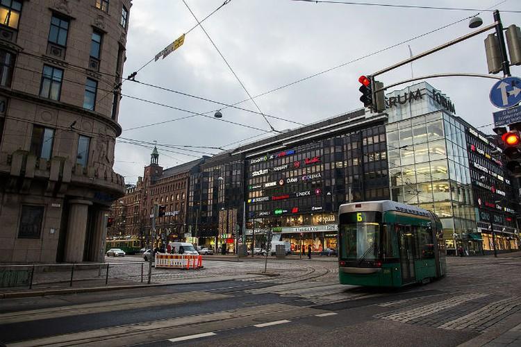 В столице Финляндии очень популярен трамвай.