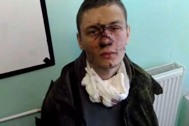 Степан Даценко после задержания. Кадр видео