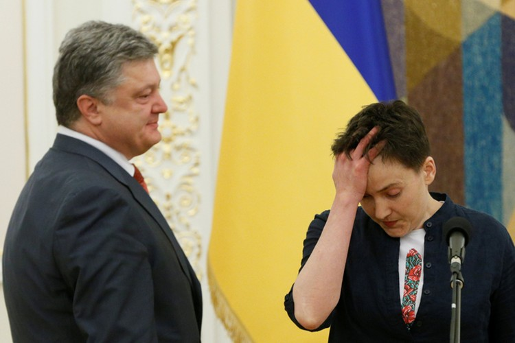 Порошенко вручил Савченко орден «Золотой звезды» и присвоил звание героя Украины