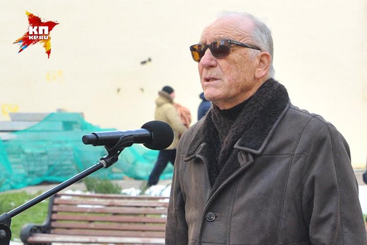 Родион Щедрин на открытии памятника.