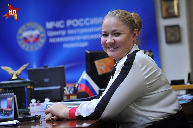 Юлия Сергеевна Шойгу возглавляет Центр экстренной психологической помощи МЧС России уже 14 лет