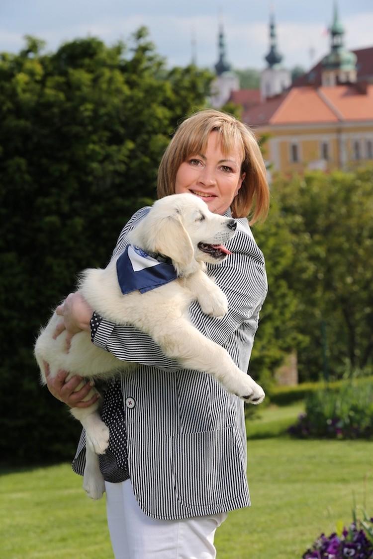 Первая леди Чехии со своим любимцем. Фото: Канцелярия Президента Чехии.