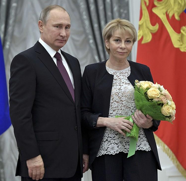 8 декабря в Кремле, доктору Лизе вручали Госпремию за подвижничество в деле спасения детей
