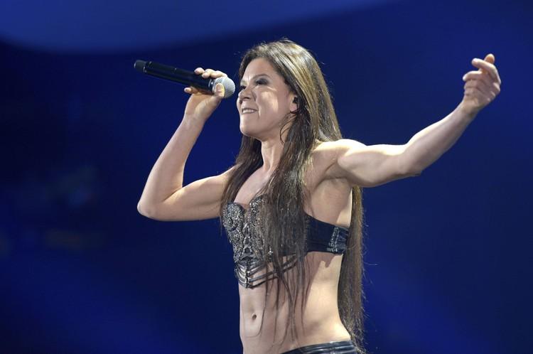Вместо именитой американской звезды публика довольствовалась выступлением Русланы.