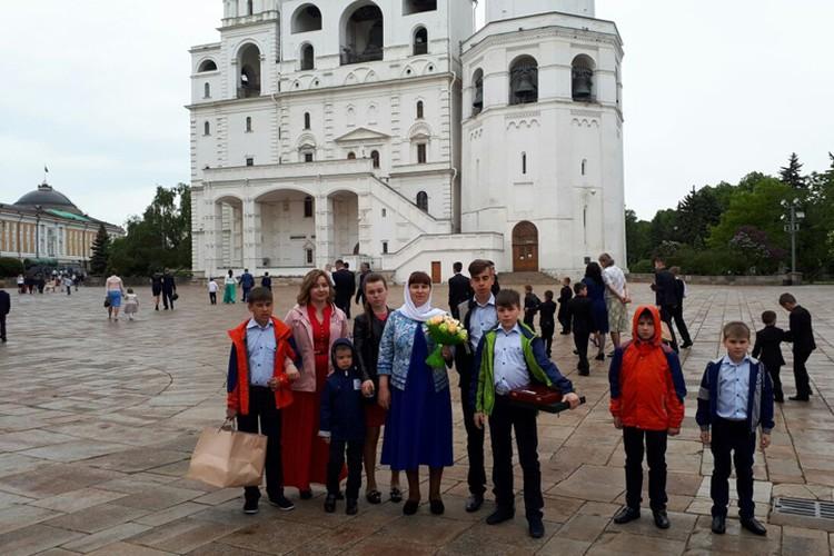 В Москве семья побывала впервые. Фото: личный архив семьи Седуновых.