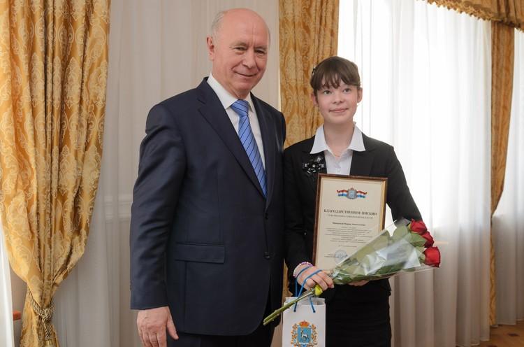 Мария Минаева получила за четвертую четверть 166 «пятерок»