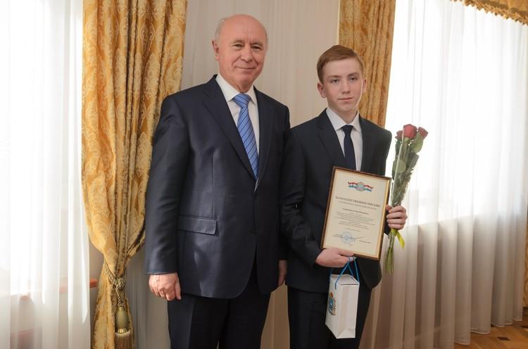 Егор Скрипкин из села Большая Черниговка стал единственным парнем в числе победителей.