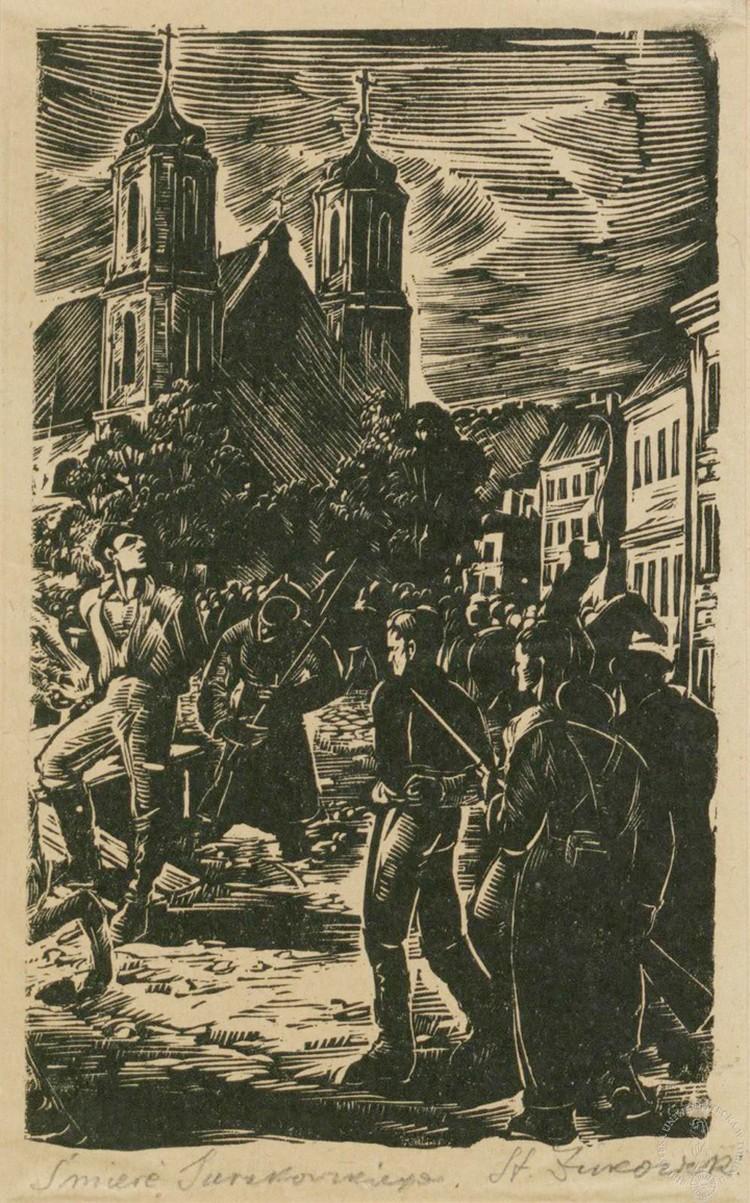 На этой гравюре - казнь Зигмунда Сераковского. Фото: архив Василия Герасимчика