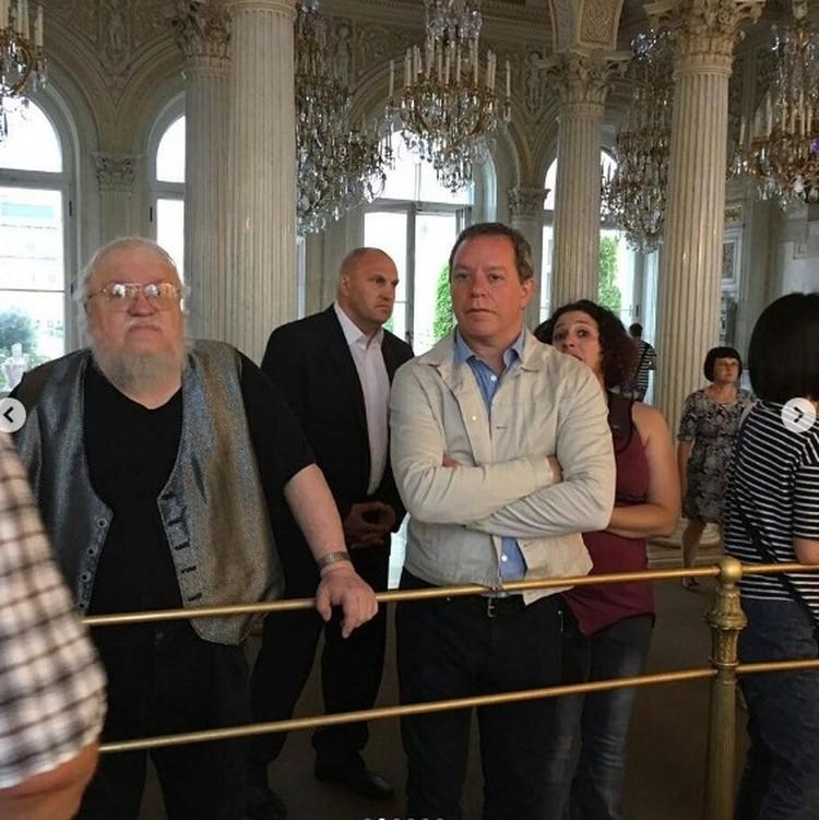 Джордж Мартин посетил Эрмитаж. Фото: Instagram izdatelstvoast