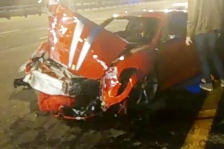 Мы помним Минское шоссе, где в мае красный «Феррари» протаранил две машины