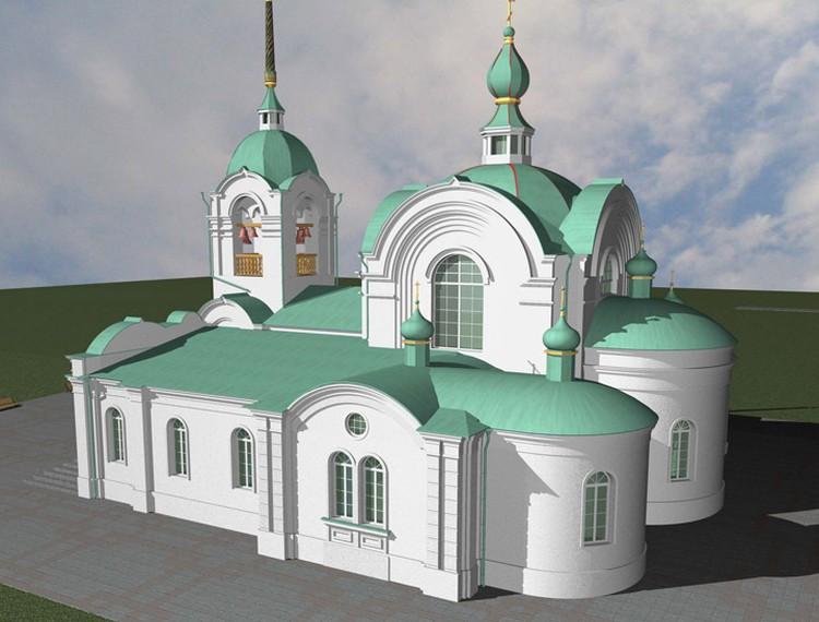 Проект восстановленного собора.