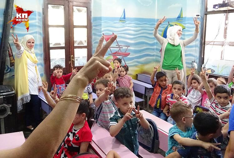 Школьники верят в победу над ИГИЛ (организация запрещена в РФ).