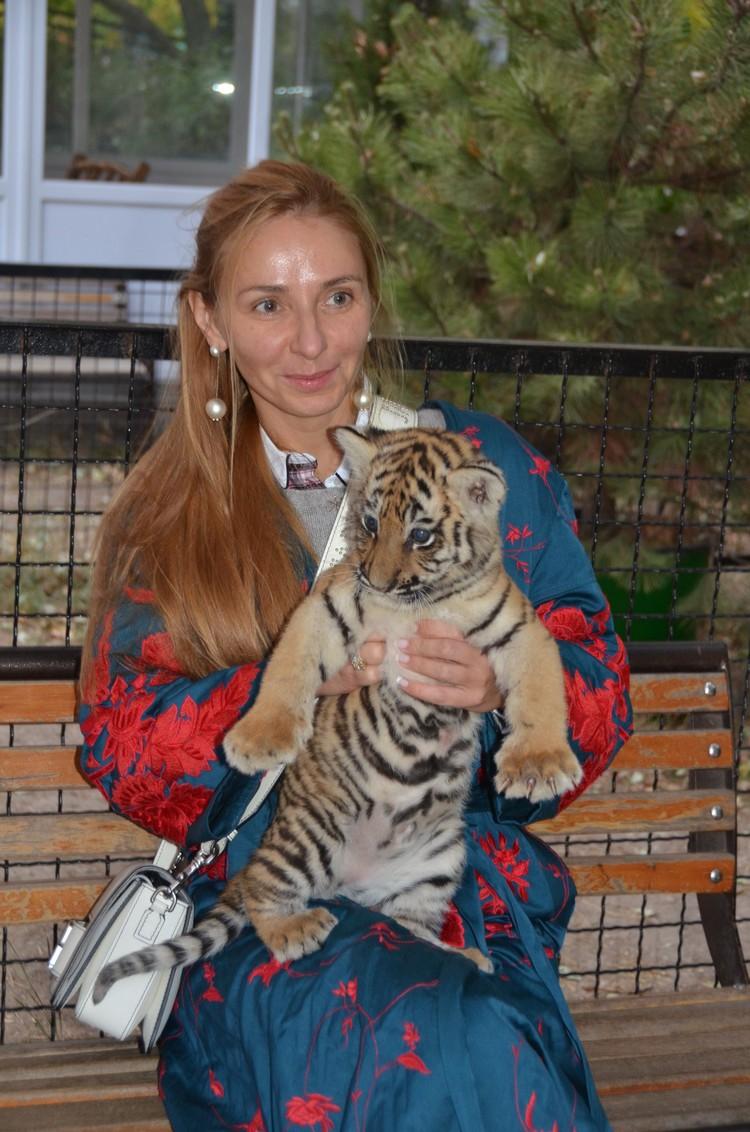 У этого тигренка хорошая и заботливая родительница - тигрица Василиса. Фото: Татьяна Алексагина.