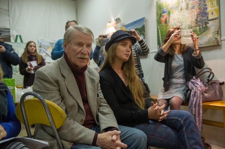 Семья Краско на выставке в октябре прошлого года.