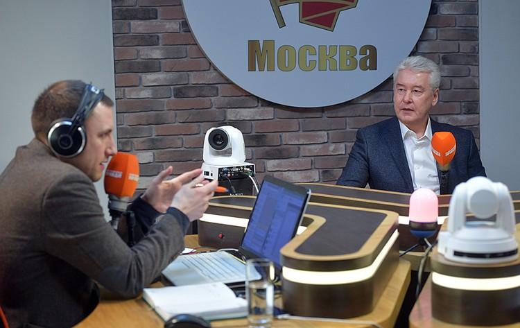 Столичный градоначальник в прямом эфире Радио «Комсомольская правда»
