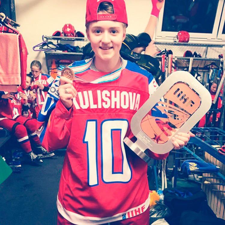 """Виктория Кулишова - одна из самых юных участниц Игр. Нападающей """"СКИФ"""" 18 лет."""