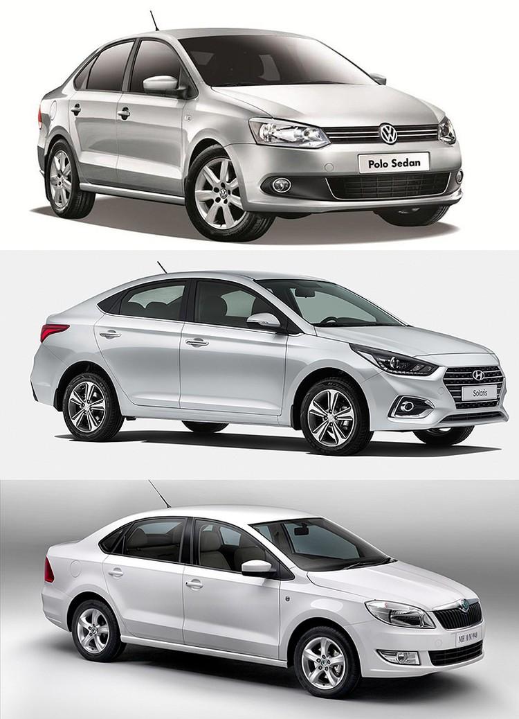 В новой службе каршеринга будут бюджетные седаны российской сборки - Volkswagen Polo Sedan, Hyundai Solaris и Skoda Rapid.