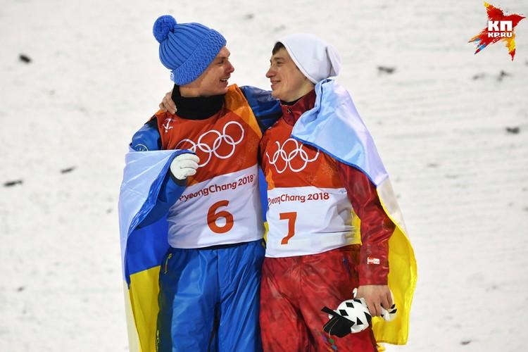 Украинский спортсмен Александр Абраменко и Илья Буров