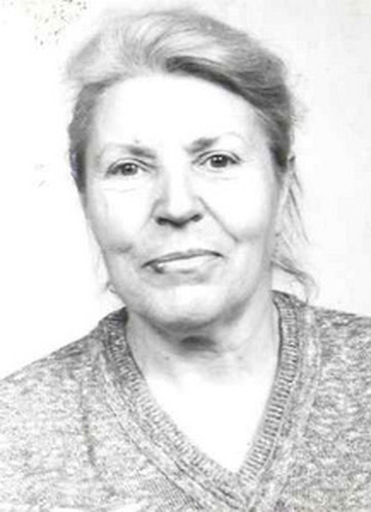 Золотова Зинаида Борисовна объявлена в розыск. Фото: УВД Минского облисполкома.