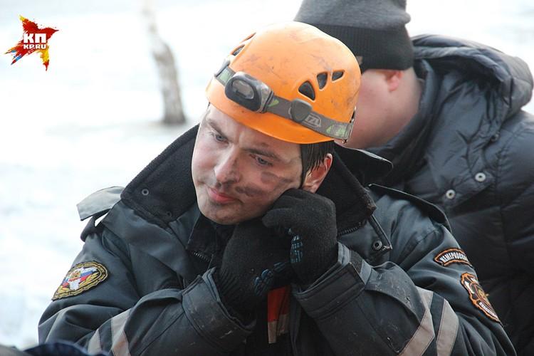 Спасатели очень уставшие