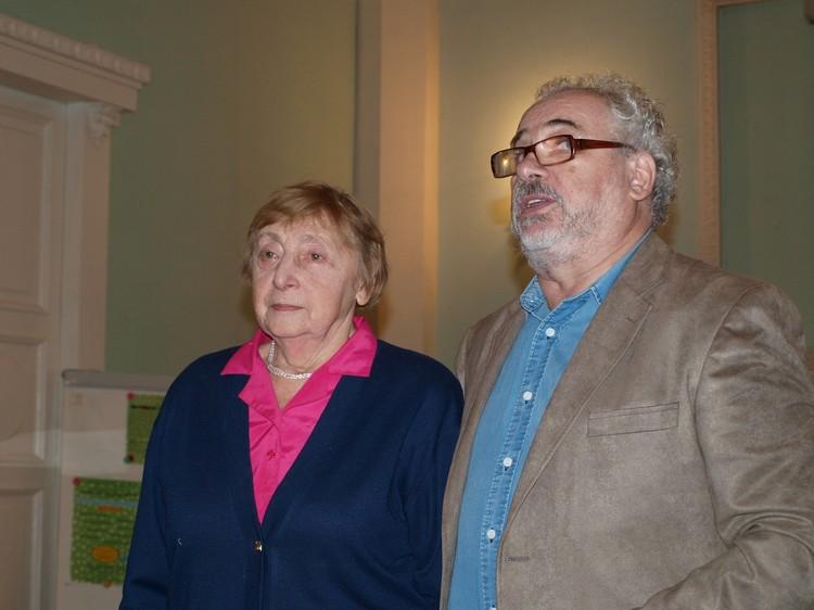 Евгения Оскаровна с Михаилом Ясновым. Фото: Сергей Махотин