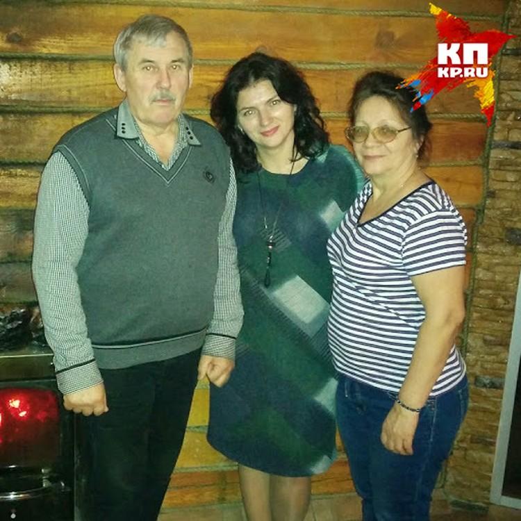 Татьяна вместе с родителями. Она была их единственной дочерью.