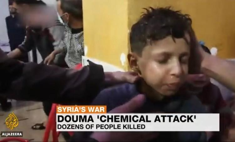 Мальчик на кадрах, которые во многом послужили предлогом к ракетной атаке Сирии со стороны США и союзников.