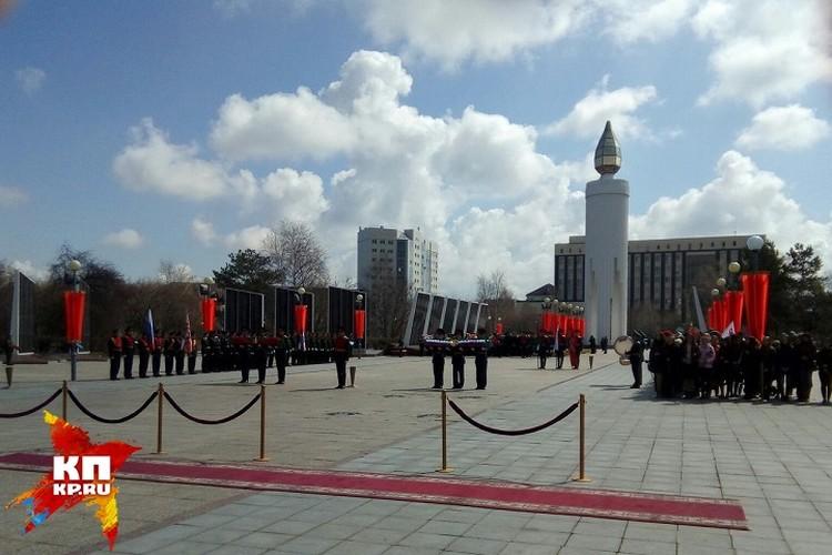 Перед началом церемонии