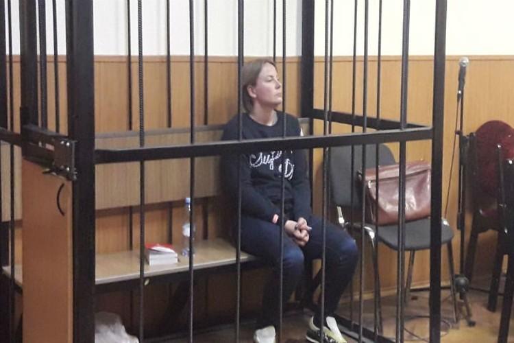 Елена Слабикова на суде держалась уверенно. ФОТО: Объединенная пресс-служба судов Санкт-Петербурга