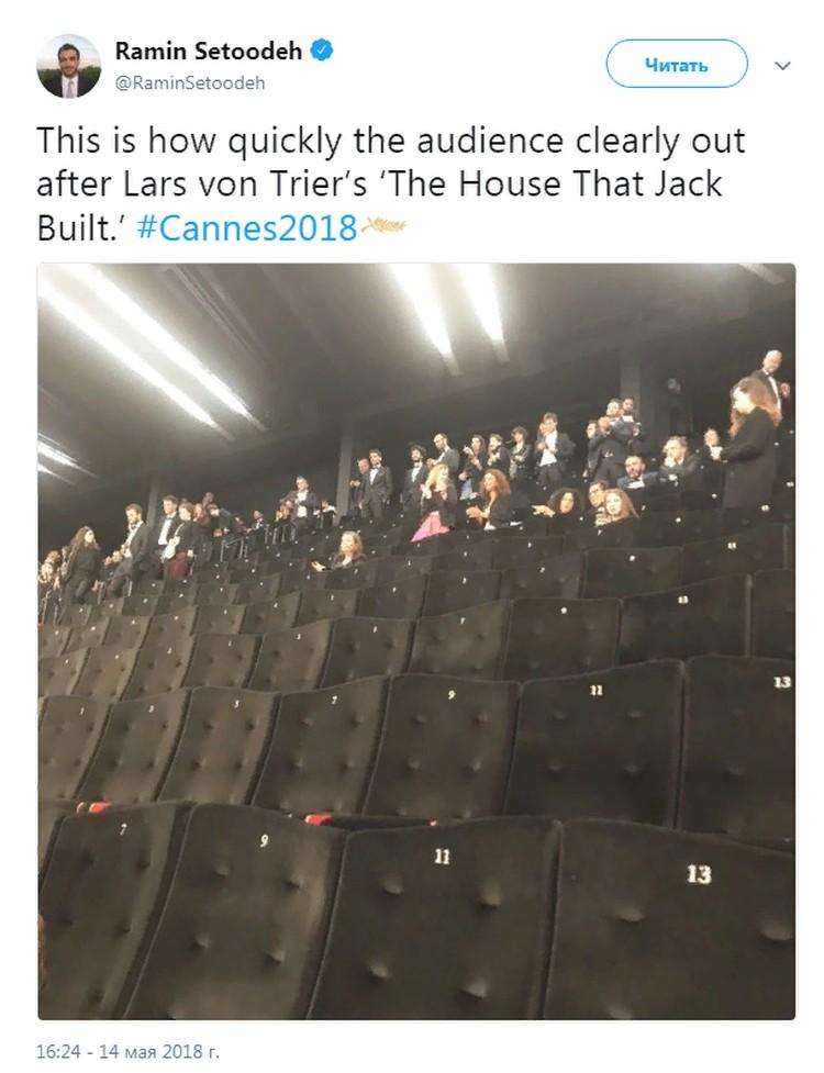 Около сотни зрителей покинули премьеру киноленты