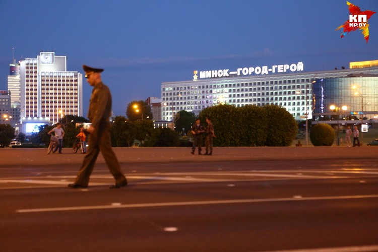 Репетиции парада ко Дню Независимости Республики Беларусь.