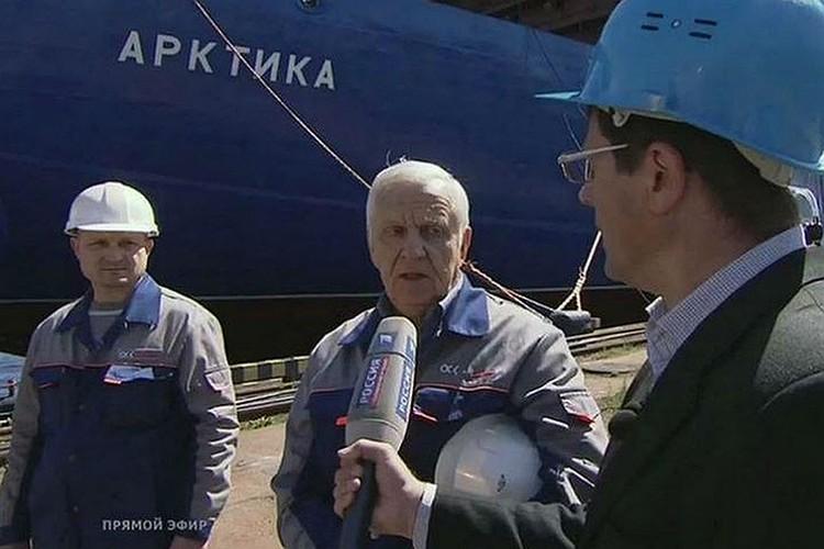 Ветеран Балтийского завода Юрий Рыжов