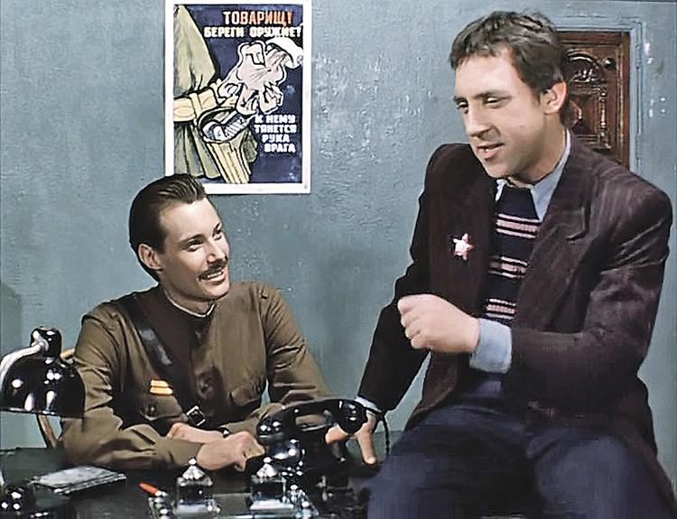 Владимир Конкин и Владимир Высоцкий в фильме «Место встречи изменить нельзя».