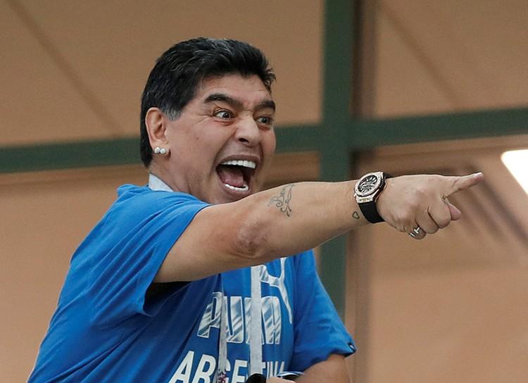 Марадона неистово болел в каждом матче за свою сборную