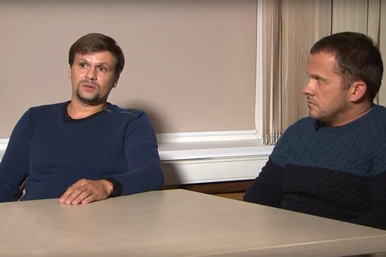 Петров и Боширов, которых в Британии называют подозреваемыми в отравлении беглого шпиона Сергея Скрипаля и его дочери, дали первое интервью