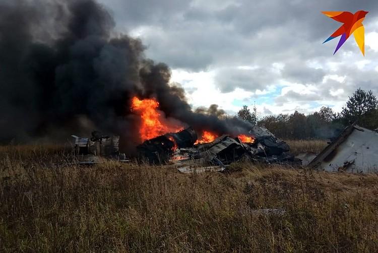 В Подмосковье потерпел крушение истребитель МиГ-29