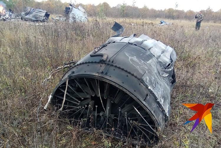 Самолет упал на удалении от жилых построек