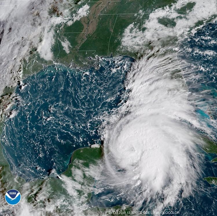 """Ураган """"Майкл"""" над Мексиканским заливом"""