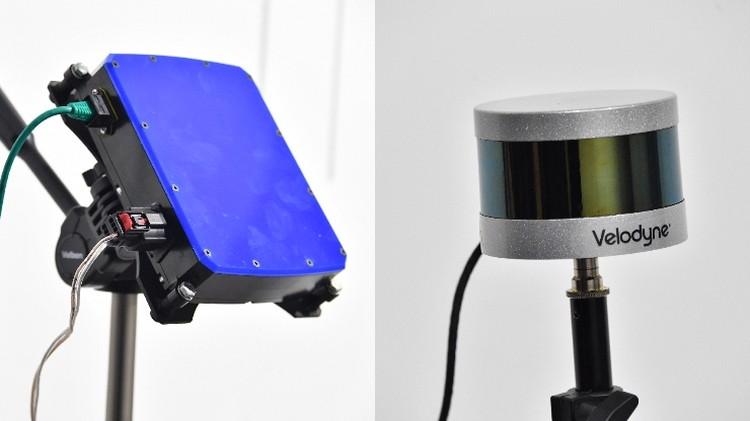 Справа - радар, слева - лидар