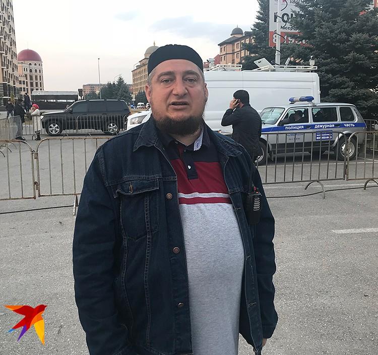 Один из организаторов митинга Магомед Муцолгов