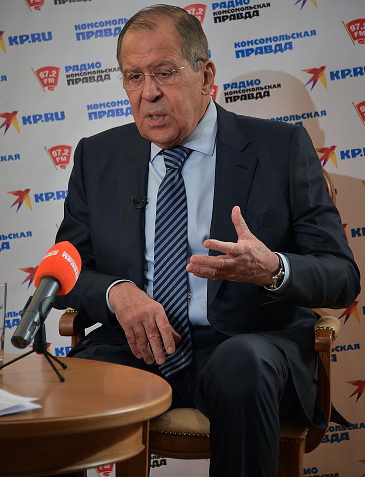 17 декабря глава МИД России Сергей Лавров дал интервью в прямом эфире на сайте kp.ru