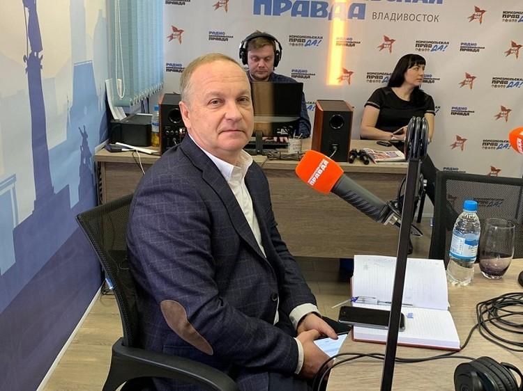 И.о. мэра Владивостока Олег Гуменюк даёт первое интервью в новом статусе