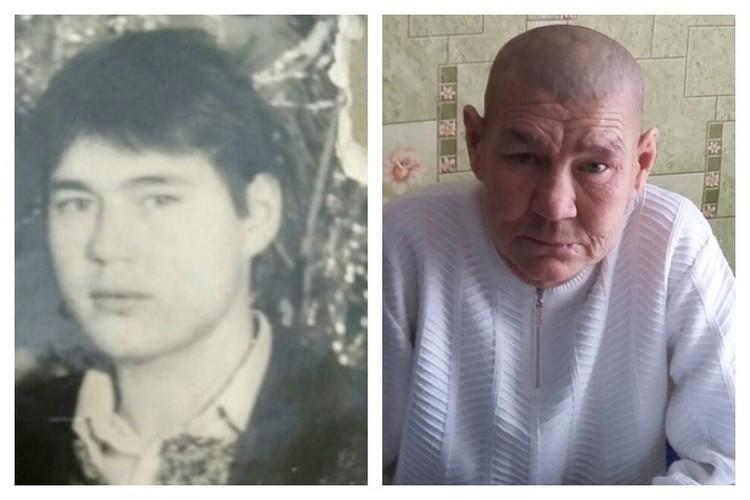 На фотографии слева - Суфиян до отъезда в Сургут. На фотографии справа- каким мужчина вернулся домой
